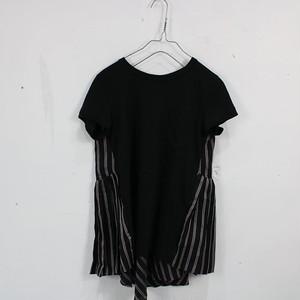 sacai / サカイ   2017   バックフレアドッキングTシャツ   1   ブラック×レッド   レディース
