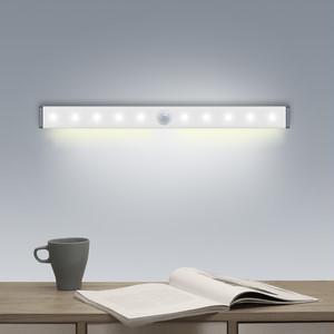 マグネット簡単取り付け【USB充電式LEDセンサーライト】 15cm