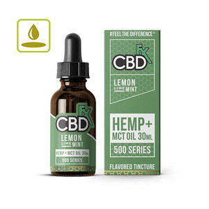 CBDfxフレーバー付きティンクチャー 500 mg 30 ml レモンライムミント