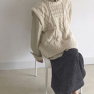Cable Knit Vest 送料無料 139