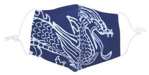 キトラ四神手ぬぐいで作った立体マスク 青龍