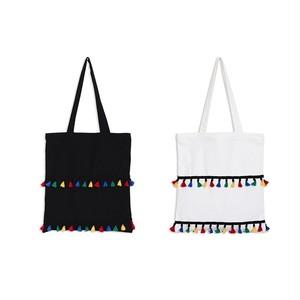 Travel Cute Bag Handbag Single Shoulder Bag Canvas Shopping Tote Bag Tassel 大人ガーリー スウィート キュート カジュアル ショルダーバッグ トートバッグ ハンドバッグ タッセル (HMS99-4577457)
