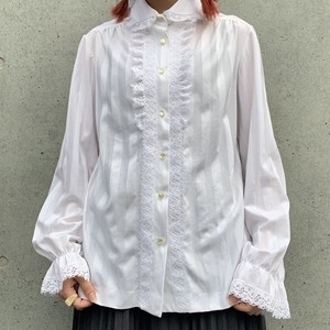 (LOOK) round collar lace blouse