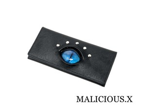 cat eye wallet / blue