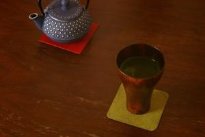 床革のコースター①(革色:全5色)1枚680円~【受注生産】【送料込み】