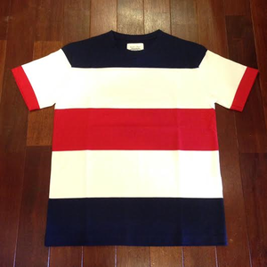 FIDELITY / フィデリティー | 【SALE!!!】 WIDE BORDER TEE - White/Navy/Red