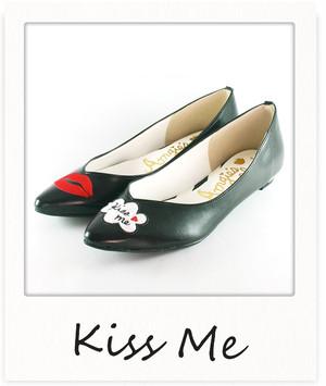 リップモチーフパンプス【Kiss me】 / ブラック