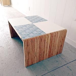 KOTAオリジナル 和柄センターテーブル(和柄ブルー&ホワイト)テーブル 和柄 机 ローテーブル ハンドメイド オリジナル