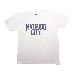 MATSUDO CITY  Tシャツ(ホワイト)design by Depot Cycle