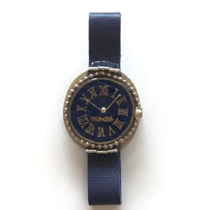 キャトルシス 腕時計ブローチ / ネイビー
