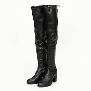 Back Ribbon Knee High Boots