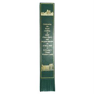 革製ブックマーク ヘンリー王子ご結婚記念【グリーン】R.C.Brady 90251-GREEN