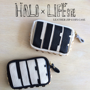【HALO × LIFEsize】LEATHER ZIP COIN CASE2015