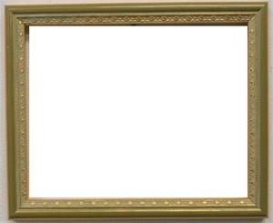 額縁アンティークおしゃれフレーム A-60027グリーン額縁寸法インチ(254mm×203mm)窓枠寸法244mm×193mm 2mmアクリル/裏板付/ /壁掛け用/箱付き/完品
