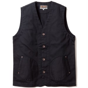 AT-DIRTY(アットダーティー)/WORKERS VEST (BLACK PIQUE)