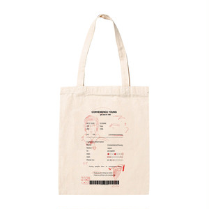 Receipt tote bag