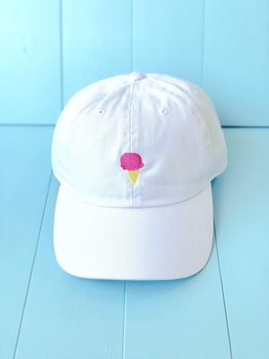 【SOLD OUT】アイスクリーム・クリームソーダ刺繍キャップ(全2種)