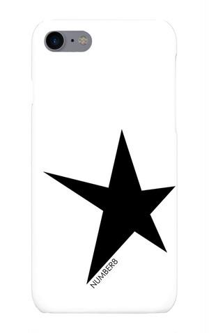 星柄ワンポイントiPhoneケース for iPhone8/7 Number8(ナンバーエイト)
