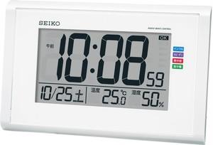 SEIKO電波デジタル掛け置き兼用時計 白 SQ439W