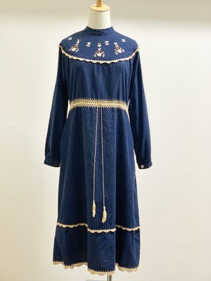 Vintage Bohemian Embroidered Dress