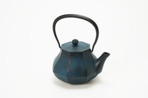 南部鉄器 鉄瓶 みやび  青 0.4L
