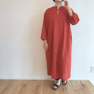 usual  SMOCK ONE-PIECE  COTTON