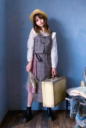【セットアップ】Mode Bustier&Skirt / チェック柄ピスチェと異素材Mixスカート