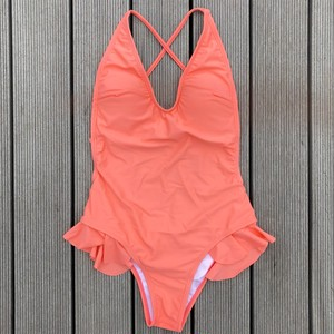 Bikini♡バッククロスモノキニ サーモンピンク GSB18S040PNK