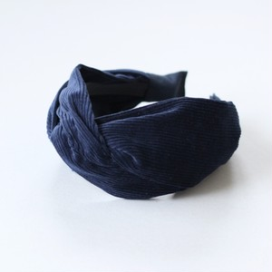 ネジリヘアバンド風カチューシャ(コーデュロイ)