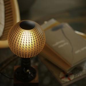 (非調光)E26 エジソンバルブ LED カレイドランプB (格子線柄)