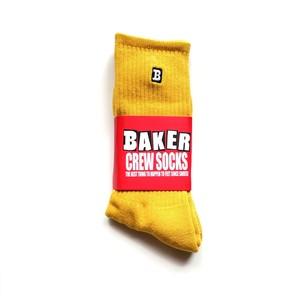 BAKER SKATEBOARDS - CAPITAL B MUSTARD SOCK