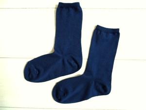 ◆100%自然素材 天然灰汁発酵建て 本藍染◆ オーガニックコットン 口ゴムゆったり先丸靴下