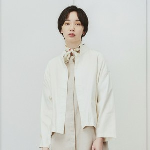 【SETTO】 CROPPED JACKET (white) セット クロップドジャケット