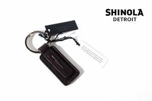 シャイノラ|shinola|キーリング|Metal Lightning Bolt Leather Keychain|ダークブラウン