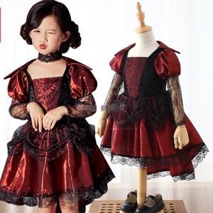 3506ハロウィン コスプレ 仮装 キッズ 女の子 子供 衣装 魔女  ヴァンパイア