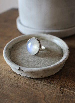 70s MOONSTONES sterling Silver RING