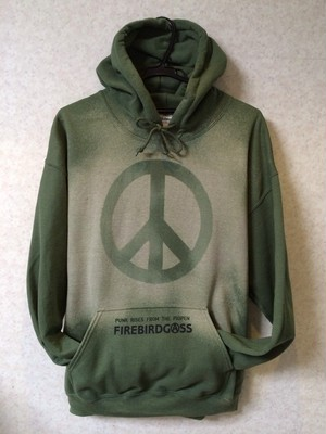 FIREBIRDGASS BLEACH HOODY 【PEACE ARMY】