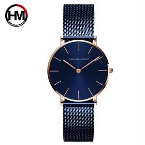 36ミリメートル新着ローズゴールド黒シンプルなバウハウスのデザイン日本クォーツレディースステンレス鋼超薄型防水女性の腕時計CL36-WFL