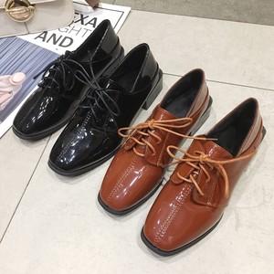 【shoes】シューズレディースレトロスクエアトゥフェイクファー