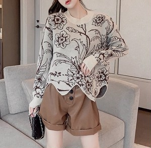 vintage flower lady knit 2color