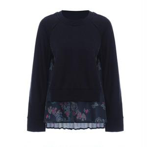 RIMI&Co.SELECT バックプリーツ スウェットトップス  Navy <Back Pleated Sweatshirt>