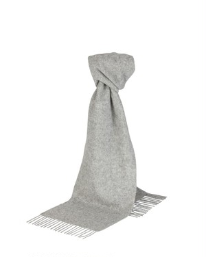 Glen Prince Classic Plain Lambswool Scarf L.Gray