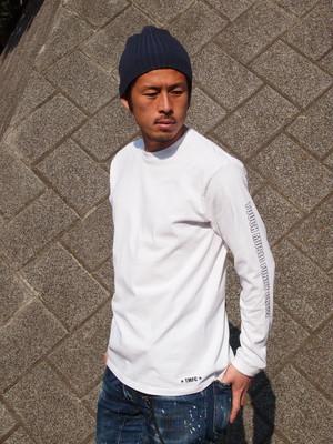 TMFC アームロゴ ロングTシャツ ホワイト