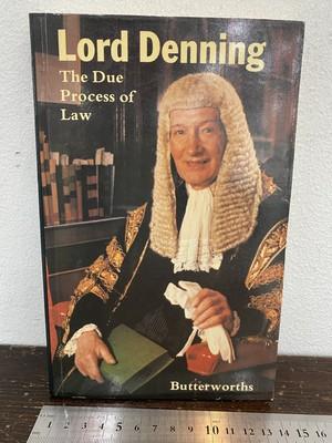 洋書 Lord Denning   The Due Process of Law