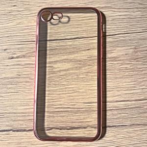 iPhoneケース 7用 TPUシンプル クリア×ローズ