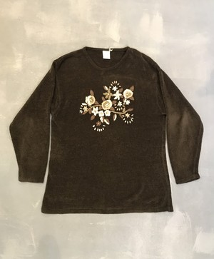 Embroidered Corduroy Sweater [G-1037]