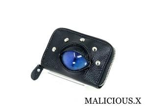 cat eye card case / deep blue