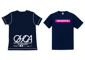 OHCAHOPPERS Tシャツ ネイビー×ピンク 002(NEW)
