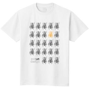 カミキリムシ(ホワイト)/昆虫Tシャツ(5.6oz)