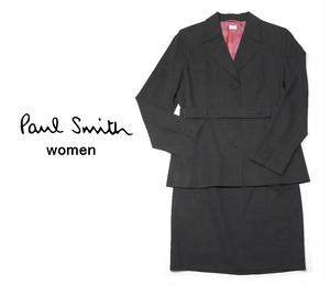 【USED】Paul Smith Women|ポールスミスウィメン|グレー系セットアップスーツ|サイズ:上42(身長160cm前後)・下40(ウエスト:61〜65cm)
